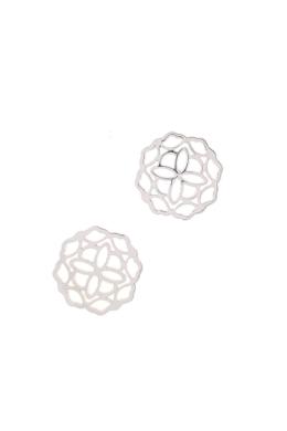 Mandala Wave - ezüst fülbevaló