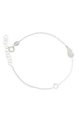 Wing & Circle - ezüst karkötő