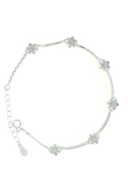 Flower - ezüst karkötő