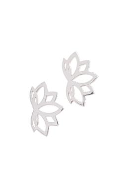 Lotus - ezüst fülbevaló