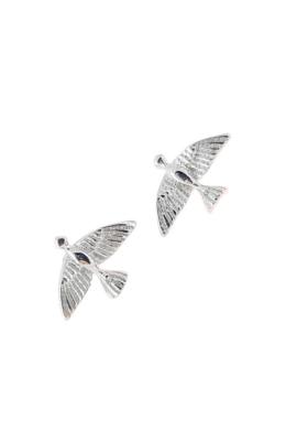 Birdy - ezüst fülbevaló