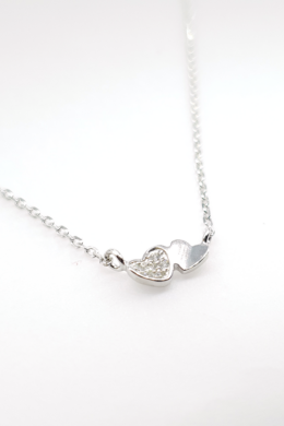 Double Heart - ezüst nyaklánc