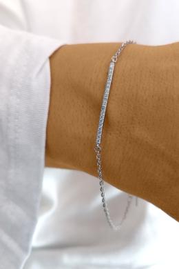 Crystal Line - ezüst karkötő
