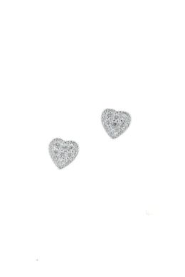 Crystal Heart - ezüst fülbevaló