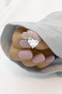 Heart in Heart - ezüst fülbevaló