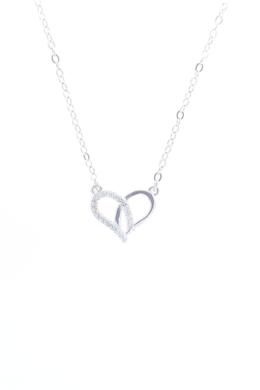 Pretzel Heart - ezüst nyaklánc