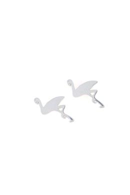 Flamingo - ezüst fülbevaló