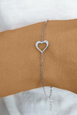 Heart Silhouette - ezüst karkőtő