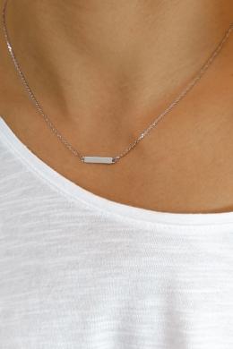 Silver Plat - ezüst lap nyaklánc
