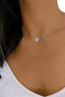 Button - kör ezüst nyaklánc