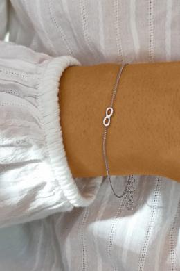 Tiny Infinity - végtelen jel ezüst karkötő