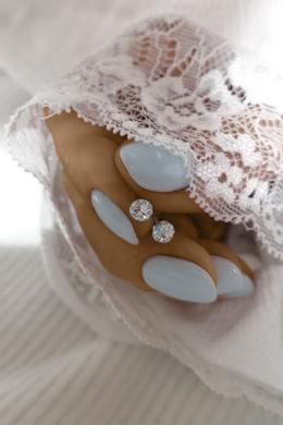 Crystal Ball - gömb ezüst fülbevaló