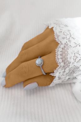 White Aurora - ezüstgyűrű