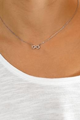 Infinity Big -  végtelen jel ezüst nyaklánc