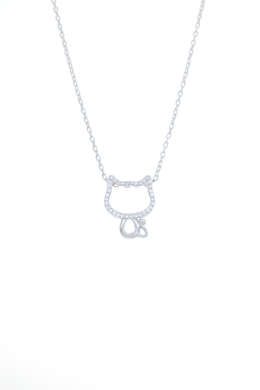 KittyCat - cica ezüst nyaklánc
