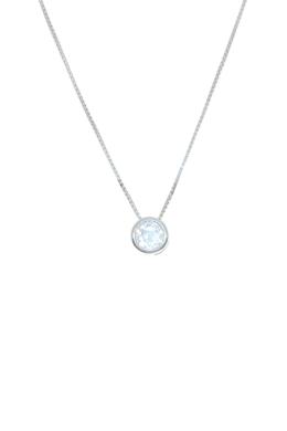 Sparkling Circle Medium - cirkónia köves ezüst nyaklánc