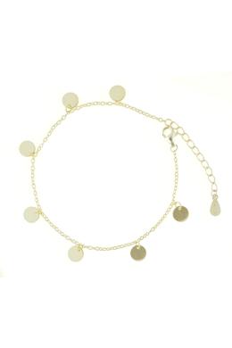 Starlink Gold - körlapos ezüst karkötő