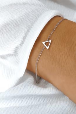 Mini Delta - háromszög ezüst karkötő