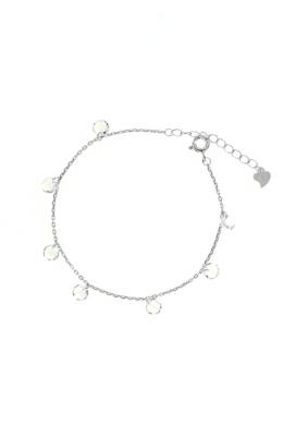 Cristall - köves ezüst karkötő