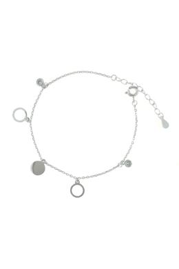 Complete - körlapos ezüst karkötő