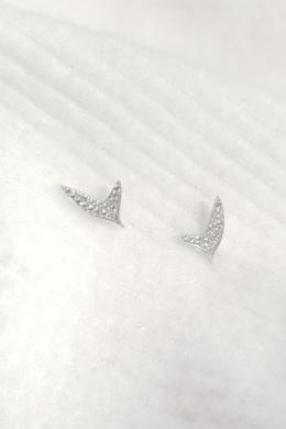 Plant - ezüst levél fülbevaló