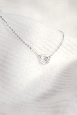 Circle Stone - ezüst körmedál nyaklánc