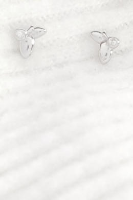 Petit - ezüst pillangó fülbevaló