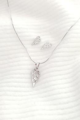 Rafael - ezüst angyalszárny fülbevaló