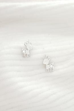 Deer -  ezüst rénszarvas fülbevaló