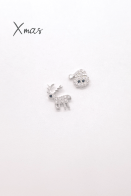 Xmas - ezüst karácsonyi fülbevaló