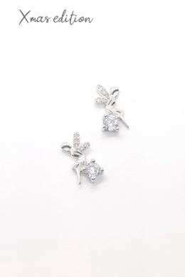 Fairy - ezüst tündér fülbevaló