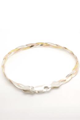 Seléné 3 - fonott ezüst karkötő