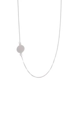 Uma - körlapos ezüst nyaklánc