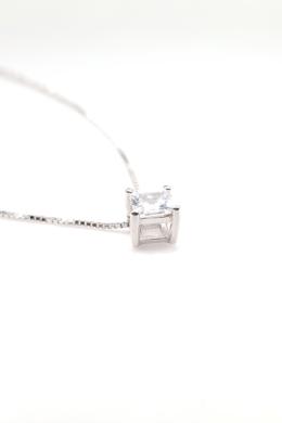 Crystal Spot Square - ezüst nyaklánc