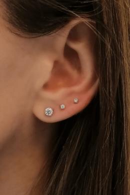 Crystal Fleck Small - apró ezüst fülbevaló