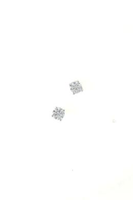Crystal Fleck Big - apró ezüst fülbevaló