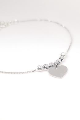 True Heart - szív ezüst karkötő