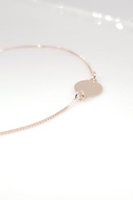 Uma - körlapos rozé ezüst karkötő