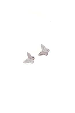 Farfalle Single - pillangó ezüst fülbevaló