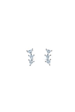 Triangle - háromszög köves fülbevaló