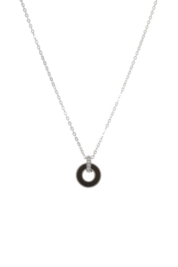 Black Circle - kör medálos ezüst nyaklánc