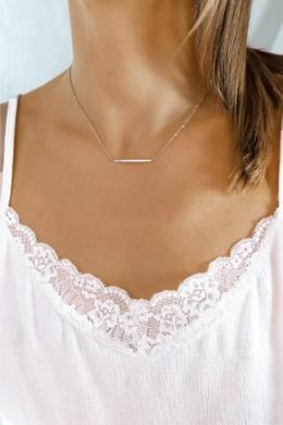 Italian Line - vonal medálos ezüst nyaklánc