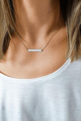 Silver Plat Wide - lap medálos nyaklánc