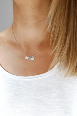 Three Hearts - szív medálos ezüst nyaklánc