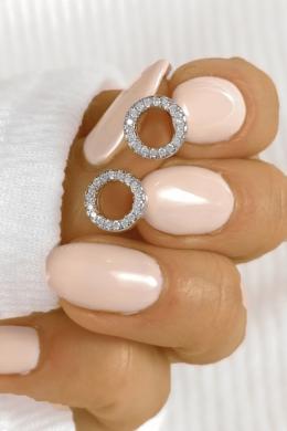 Fully - kör alakú ezüst fülbevaló