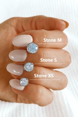Stone S - köves ezüst fülbevaló