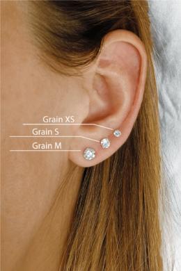 Grain S - apró ezüst fülbevaló