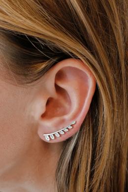 Leveles Fülre Simuló Ezüst Fülcimpa Fülbevaló
