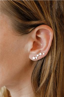 Csillagos Fülre Simuló Ezüst Fülcimpa Fülbevaló