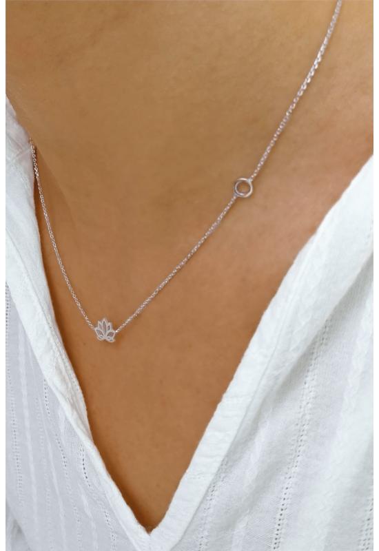 Lotus - ezüst nyaklánc